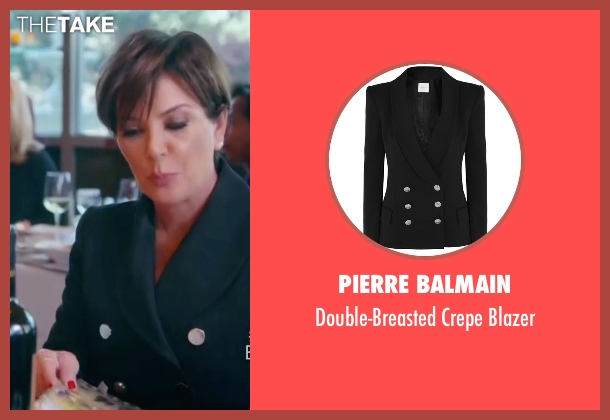 Pierre Balmain black blazer from Keeping Up With The Kardashians seen with Kris Jenner