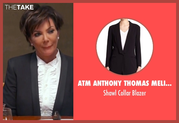 ATM Anthony Thomas Melillo black blazer from Keeping Up With The Kardashians seen with Kris Jenner