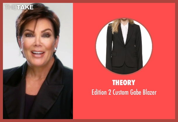 Theory black blazer from Keeping Up With The Kardashians seen with Kris Jenner