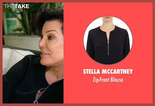 Stella McCartney black blouse from Keeping Up With The Kardashians seen with Kris Jenner