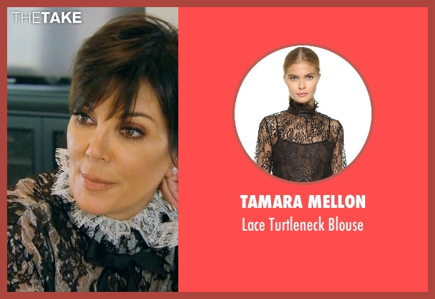 Tamara Mellon black blouse from Keeping Up With The Kardashians seen with Kris Jenner