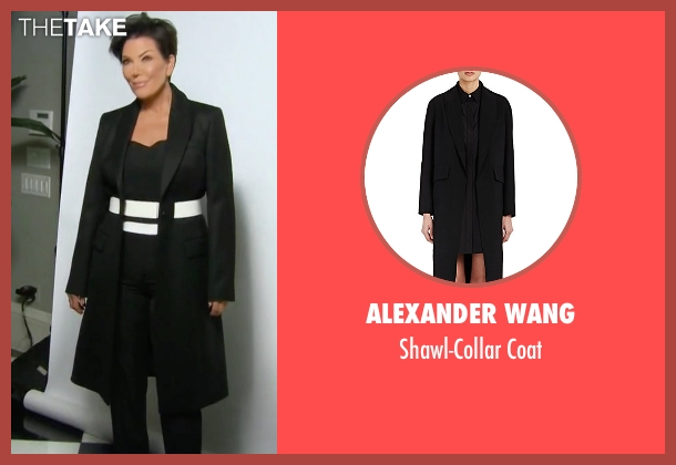 Alexander Wang black coat from Keeping Up With The Kardashians seen with Kris Jenner