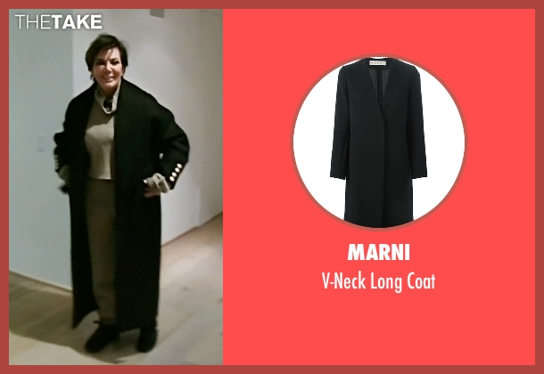 Marni black coat from Keeping Up With The Kardashians seen with Kris Jenner