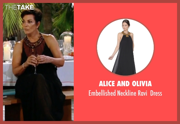 Alice And Olivia black dress from Keeping Up With The Kardashians seen with Kris Jenner