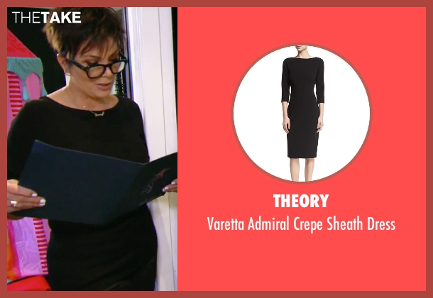 Theory black dress from Keeping Up With The Kardashians seen with Kris Jenner