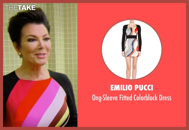 Emilio Pucci black dress from Keeping Up With The Kardashians seen with Kris Jenner