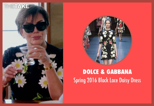 Dolce & Gabbana black dress from Keeping Up With The Kardashians seen with Kris Jenner
