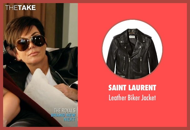 Saint Laurent black jacket from Keeping Up With The Kardashians seen with Kris Jenner