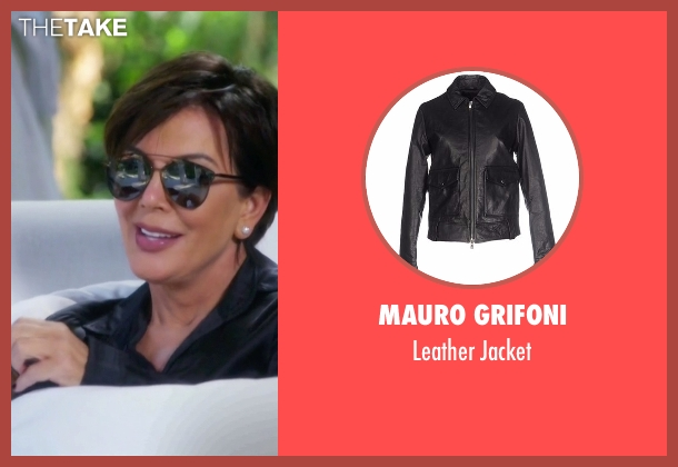 Mauro Grifoni black jacket from Keeping Up With The Kardashians seen with Kris Jenner