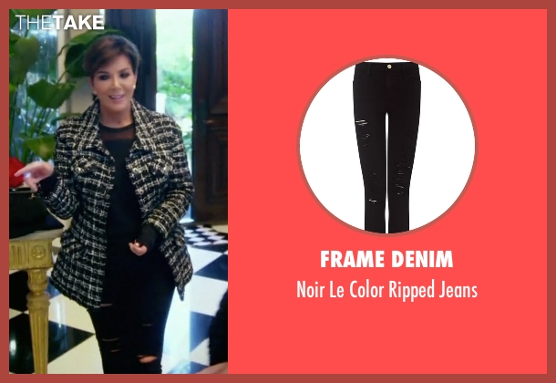 Frame Denim black jeans from Keeping Up With The Kardashians seen with Kris Jenner