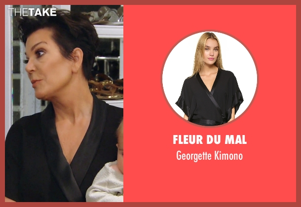 Fleur du Mal black kimono from Keeping Up With The Kardashians seen with Kris Jenner