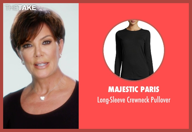 Majestic Paris black pullover from Keeping Up With The Kardashians seen with Kris Jenner