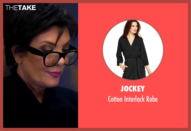 Jockey black robe from Keeping Up With The Kardashians seen with Kris Jenner