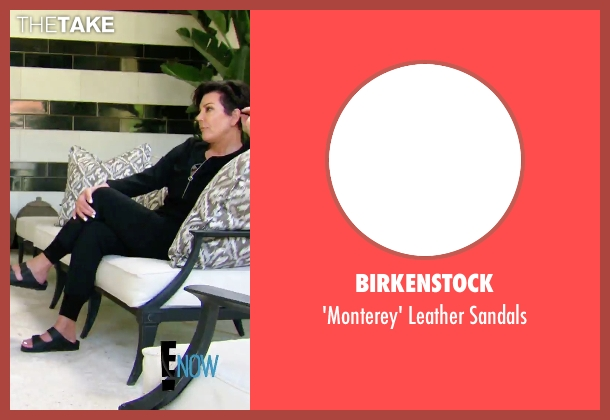 Birkenstock black sandals from Keeping Up With The Kardashians seen with Kris Jenner