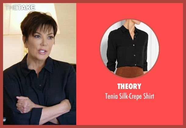 Theory black shirt from Keeping Up With The Kardashians seen with Kris Jenner