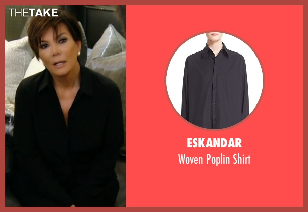 Eskandar black shirt from Keeping Up With The Kardashians seen with Kris Jenner
