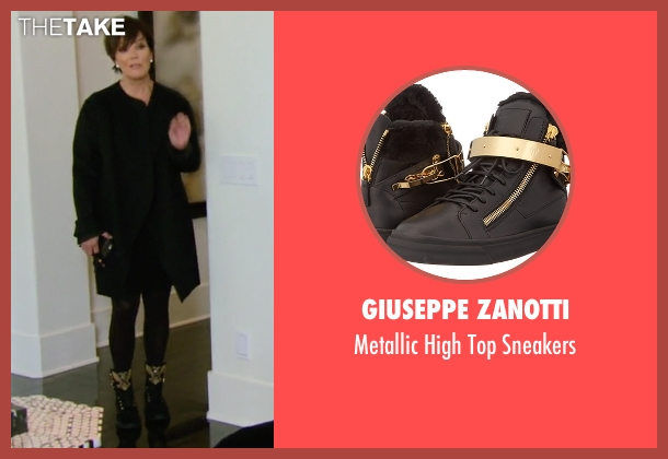 Giuseppe Zanotti black sneakers from Keeping Up With The Kardashians seen with Kris Jenner