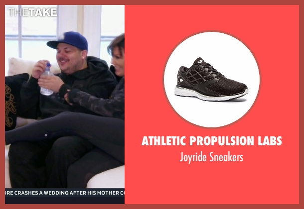 Athletic Propulsion Labs black sneakers from Keeping Up With The Kardashians seen with Kris Jenner