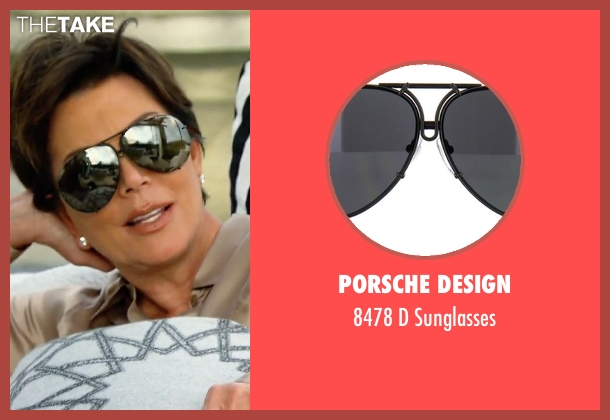 Porsche Design black sunglasses from Keeping Up With The Kardashians seen with Kris Jenner