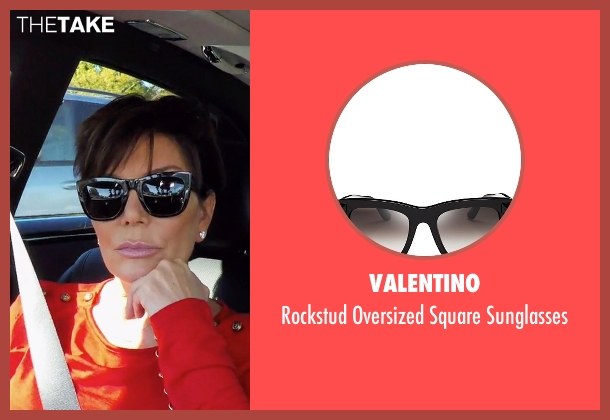 Valentino black sunglasses from Keeping Up With The Kardashians seen with Kris Jenner