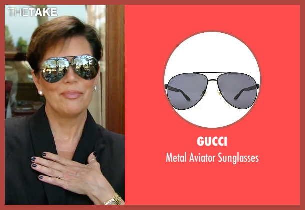 Gucci black sunglasses from Keeping Up With The Kardashians seen with Kris Jenner