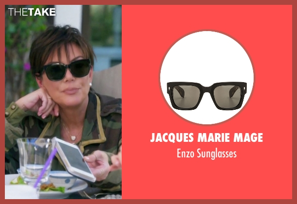 Oliver Peoples black sunglasses from Keeping Up With The Kardashians seen with Kris Jenner