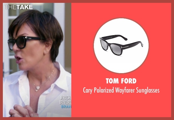 Tom Ford black sunglasses from Keeping Up With The Kardashians seen with Kris Jenner