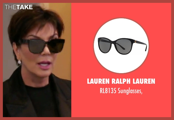 Lauren Ralph Lauren black sunglasses from Keeping Up With The Kardashians seen with Kris Jenner