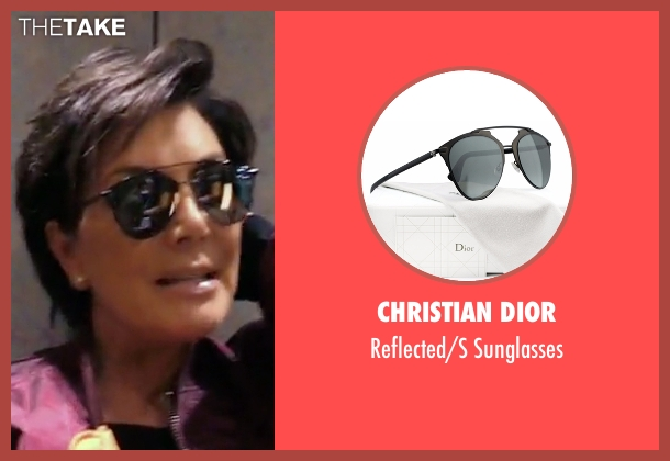 Christian Dior black sunglasses from Keeping Up With The Kardashians seen with Kris Jenner
