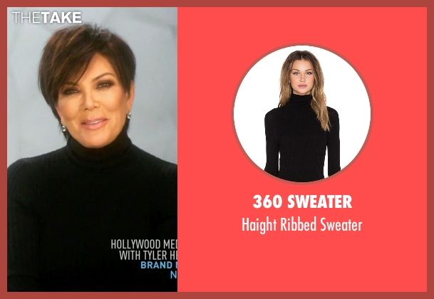 360 Sweater black sweater from Keeping Up With The Kardashians seen with Kris Jenner