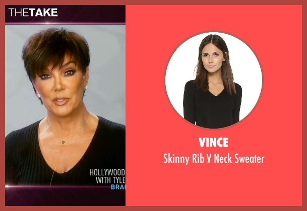 Vince black sweater from Keeping Up With The Kardashians seen with Kris Jenner
