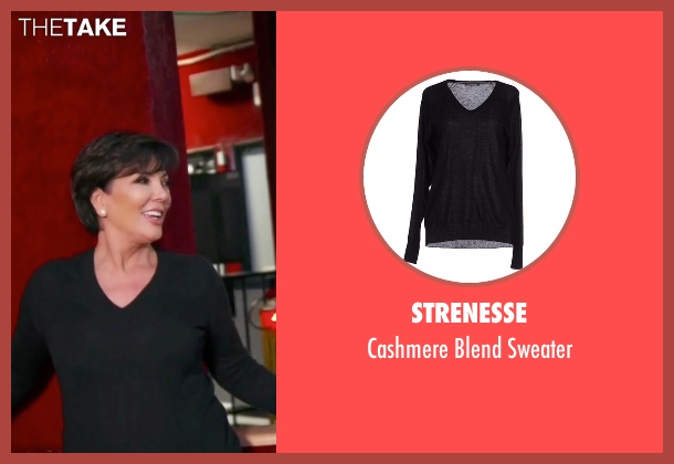 Strenesse black sweater from Keeping Up With The Kardashians seen with Kris Jenner