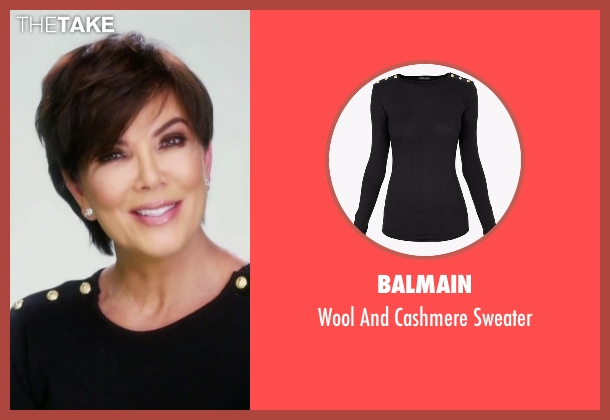 Balmain black sweater from Keeping Up With The Kardashians seen with Kris Jenner