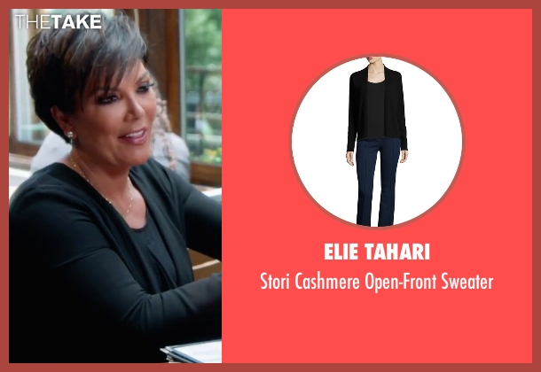 Elie Tahari black sweater from Keeping Up With The Kardashians seen with Kris Jenner
