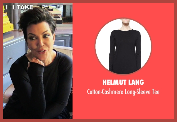Helmut Lang black tee from Keeping Up With The Kardashians seen with Kris Jenner