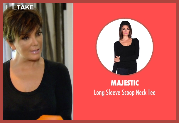 Majestic black tee from Keeping Up With The Kardashians seen with Kris Jenner