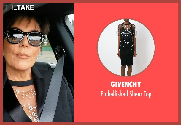 Givenchy black top from Keeping Up With The Kardashians seen with Kris Jenner