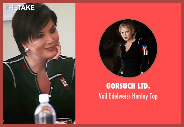 Gorsuch LTD. black top from Keeping Up With The Kardashians seen with Kris Jenner