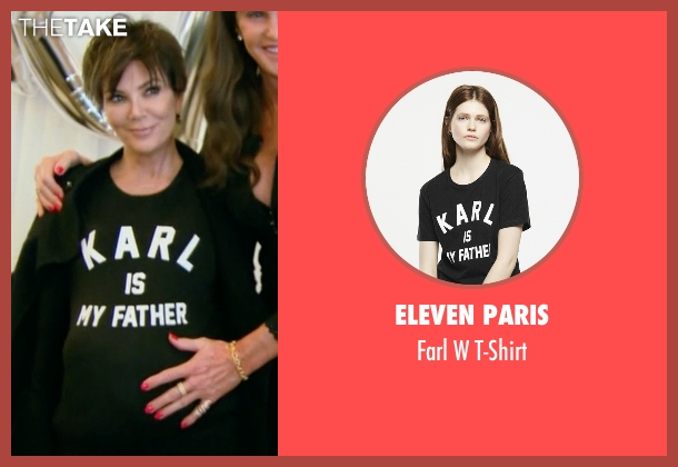 Eleven Paris black t-shirt from Keeping Up With The Kardashians seen with Kris Jenner