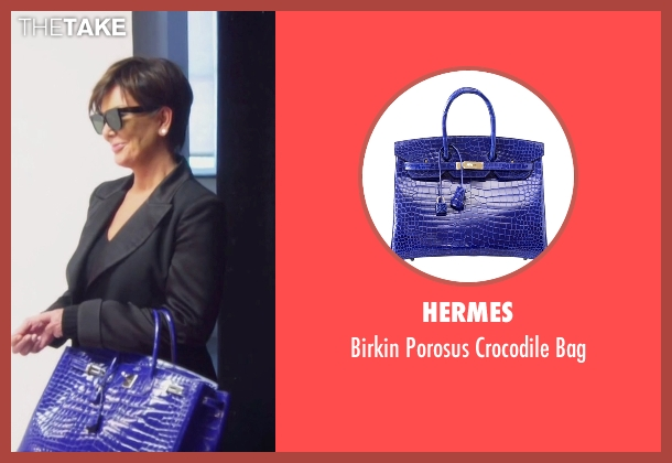 Hermes blue bag from Keeping Up With The Kardashians seen with Kris Jenner