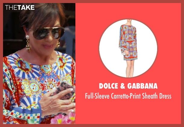 Dolce & Gabbana blue dress from Keeping Up With The Kardashians seen with Kris Jenner