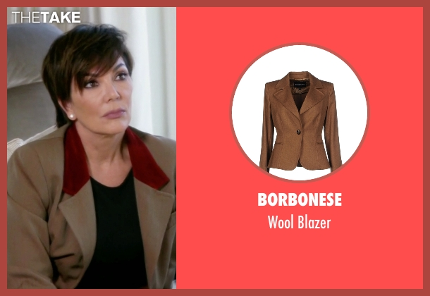 Borbonese brown blazer from Keeping Up With The Kardashians seen with Kris Jenner