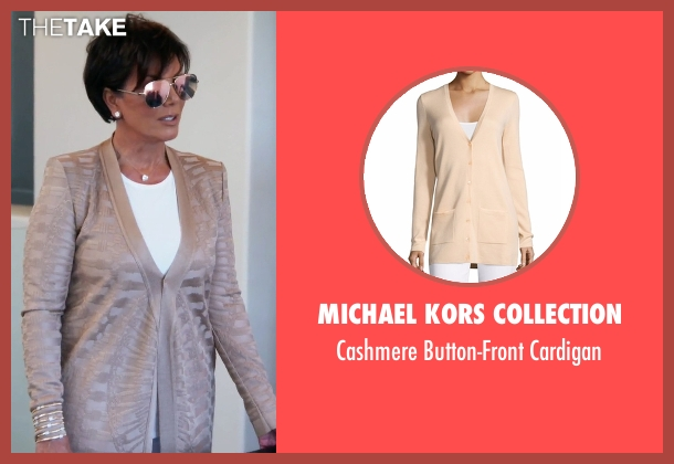 Michael Kors Collection  brown cardigan from Keeping Up With The Kardashians seen with Kris Jenner