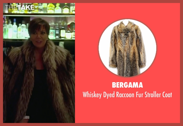 Bergama brown coat from Keeping Up With The Kardashians seen with Kris Jenner