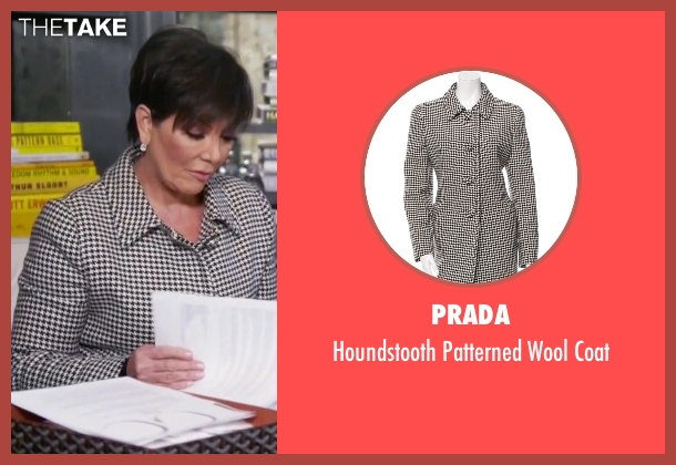 Prada coat from Keeping Up With The Kardashians seen with Kris Jenner