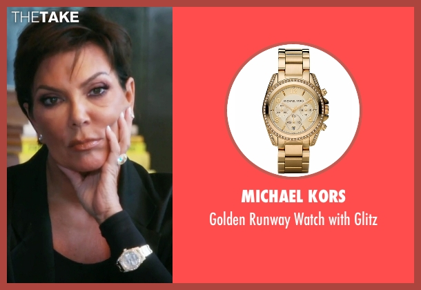 Michael Kors gold glitz from Keeping Up With The Kardashians seen with Kris Jenner