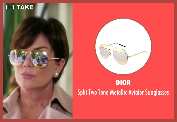 Dior gold sunglasses from Keeping Up With The Kardashians seen with Kris Jenner