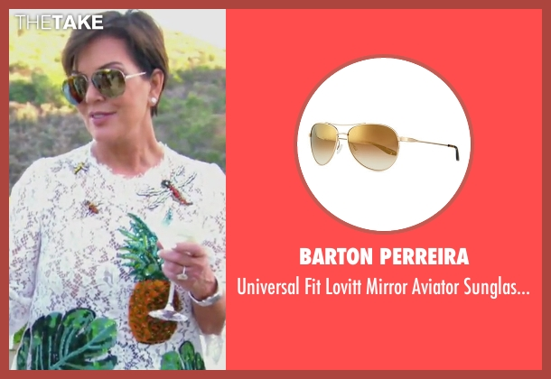 Barton Perreira gold sunglasses from Keeping Up With The Kardashians seen with Kris Jenner