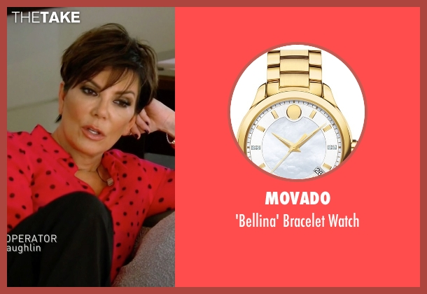 Movado gold watch from Keeping Up With The Kardashians seen with Kris Jenner