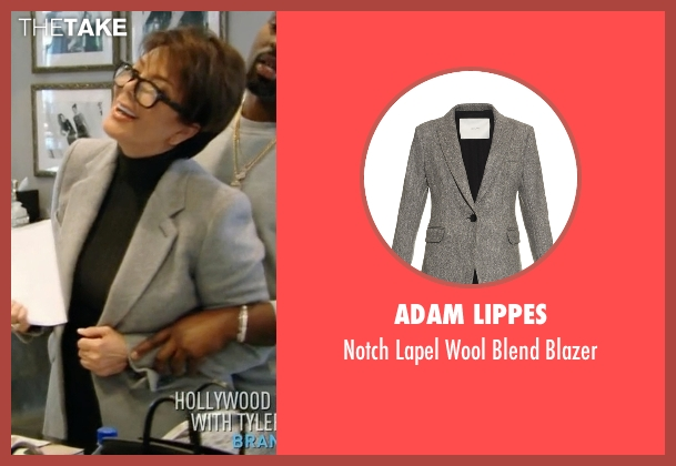 Adam Lippes gray blazer from Keeping Up With The Kardashians seen with Kris Jenner